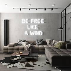 Квартира Жк.Самоцветы в стиле Loft: Гостиная в . Автор – Дизайн Студия Katushhha