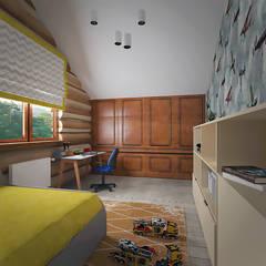 غرفة الاطفال تنفيذ студия Виталии Романовской