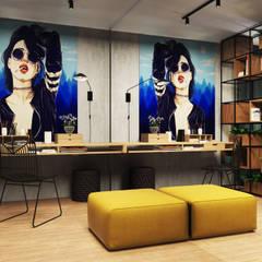 Квартира Жк. Дом на Фрунзенской: Рабочие кабинеты в . Автор – Дизайн Студия Katushhha, Лофт