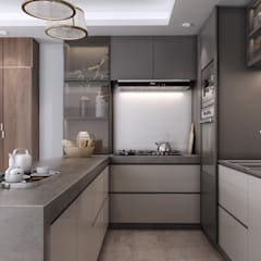 Private apartment | Modern Style:  Small kitchens by dal design office