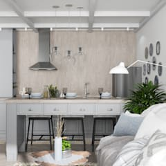 Квартира Жк. Светлый мир : Кухни в . Автор – Дизайн Студия Katushhha