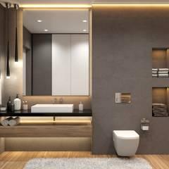 Загородный дом Иннола Парк: Ванные комнаты в . Автор – Дизайн Студия Katushhha