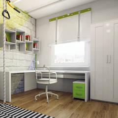 Dormitorios infantiles de estilo  por Дизайн Студия Katushhha