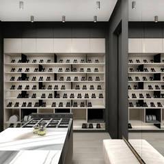 najlepsze projekty garderoby: styl , w kategorii Garderoba zaprojektowany przez ARTDESIGN architektura wnętrz