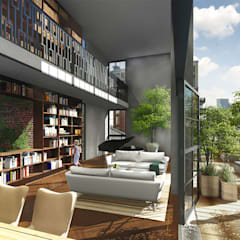 Little C lofts - Rotterdam:  Terras door jvantspijker & partners