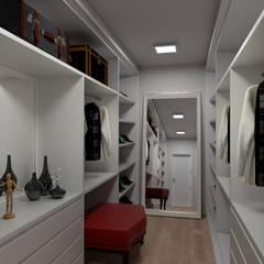 Vestidores de estilo moderno de Bruna Schumacher - Arquitetura & Interiores Moderno