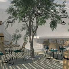 Arquitectura interior: Espacios comerciales de estilo  por Quinta Fachada Studio  ¡Tú lo sueñas y nosotros lo proyectamos!