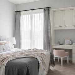 晝。光聚:  臥室 by 存果空間設計有限公司