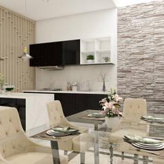 Interior Desain Modern: Ruang Makan oleh PT. Leeyaqat Karya Pratama,