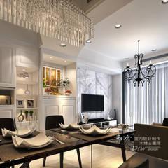 是回家也是旅行  飯店質感度假好宅  --曙光之旅2:  客廳 by 木博士團隊/動念室內設計制作