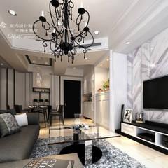是回家也是旅行  輕古典風飯店質感度假好宅  --曙光之旅2:  客廳 by 木博士團隊/動念室內設計制作