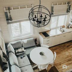 Кухня-столовая: Столовые комнаты в . Автор – Архитектурная студия 'АВТОР'