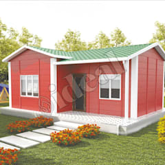 Prefabricated home by İdeal Ev (Prefabrik Evim), Mediterranean OSB