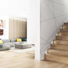 Загородный дом 250 м2 : Лестницы в . Автор – Дизайн Студия Katushhha