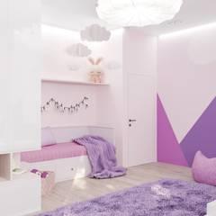 Загородный дом 250 м2 : Спальни для девочек в . Автор – Дизайн Студия Katushhha