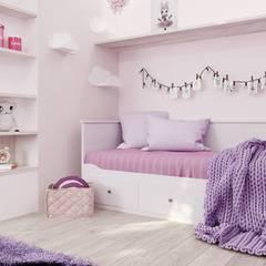 Dormitorios de niñas de estilo  por Дизайн Студия Katushhha