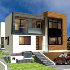 Casa junto al bosque: Casas unifamiliares de estilo  por Helicoide Estudio de Arquitectura