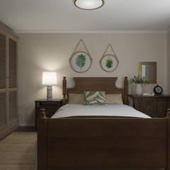 غرفة نوم تنفيذ Glancing EYE - Asesoramiento y decoración en diseños 3D , بلدي