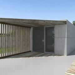Construção em Betão: Portas principais  por Arqvoid - Arquitetura e Serviços, Lda.