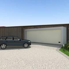 ประตูโรงรถ by Arqvoid - Arquitetura e Serviços, Lda.