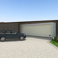 Puertas de garaje de estilo  de Arqvoid - Arquitetura e Serviços, Lda.