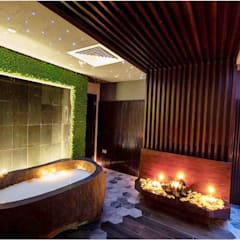 SPA Stone Bathtub - Natural Stone Tube:  Hot tub by Lux4home™ Indonesia