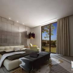 PLATINUM HOUSE:  Kamar Tidur by midun and partners architect