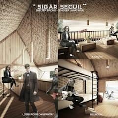 SIGAR SECUIL SHELTER:  Ruang Komersial by midun and partners architect
