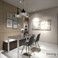 Bedok South Ave 2:  Dining room by Swish Design Works,Modern