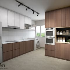 Bedok South Ave 2:  Built-in kitchens by Swish Design Works,Modern