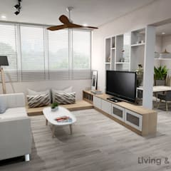 Serangoon Central Scandinavian style living room by Swish Design Works Scandinavian