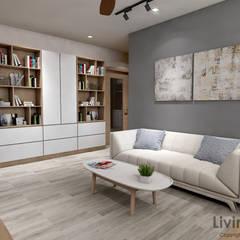 Serangoon Central:  Living room by Swish Design Works