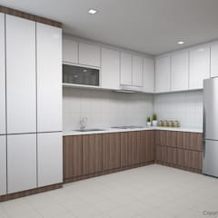 Serangoon Central:  Kitchen by Swish Design Works,Modern