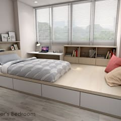 Serangoon Central:  Bedroom by Swish Design Works