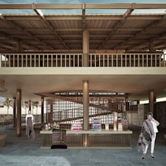 Centros comerciales de estilo  por midun and partners architect,