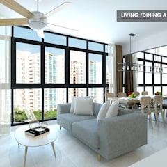 Symphony Suites:  Living room by Swish Design Works