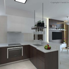 Symphony Suites:  Built-in kitchens by Swish Design Works,
