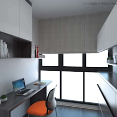 Study/ Guest room:  Small bedroom by Swish Design Works
