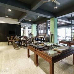 京峰富茶倉:  商業空間 by 元作空間設計, 日式風、東方風