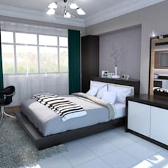 Balam Road:  Small bedroom by Swish Design Works,Classic
