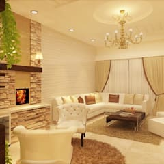 LIVING ROOM:  Living room by MAD Design