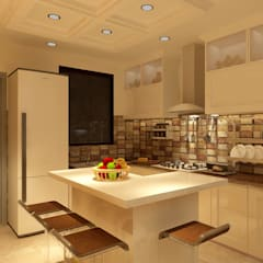 HAUZ KHAS HOUSE PROJECT BY MAD DESIGN:  Kitchen by MAD Design