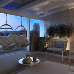 GIOVANNA APARTMENT: Terrazza in stile  di FRANCESCO CARDANO Interior designer