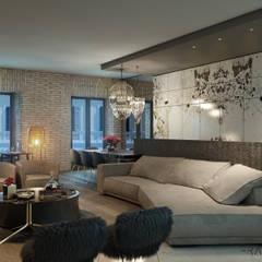 Salas / recibidores de estilo  por FRANCESCO CARDANO Interior designer