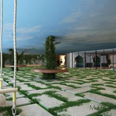 Jardins de fachada  por müge akbulut design