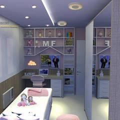 Bel Ribeiro - Arquitetura, Interiores & Paisagismo:  tarz Kız çocuk yatak odası