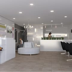 MARIANA Y SOLEDAD SALON Galerías y espacios comerciales de estilo moderno de RUKA arquitectas Moderno