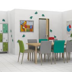 FRUCAN sala de juntas / Bello: Oficinas y Tiendas de estilo  por Decó ambientes a la medida