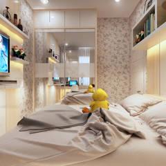 A/KIDS BEDROOM:  Kamar tidur kecil by Mitrasasana - Design & Build