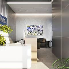 Приёмная и переговорная в офисе: Рабочие кабинеты в . Автор – Компания архитекторов Латышевых 'Мечты сбываются'